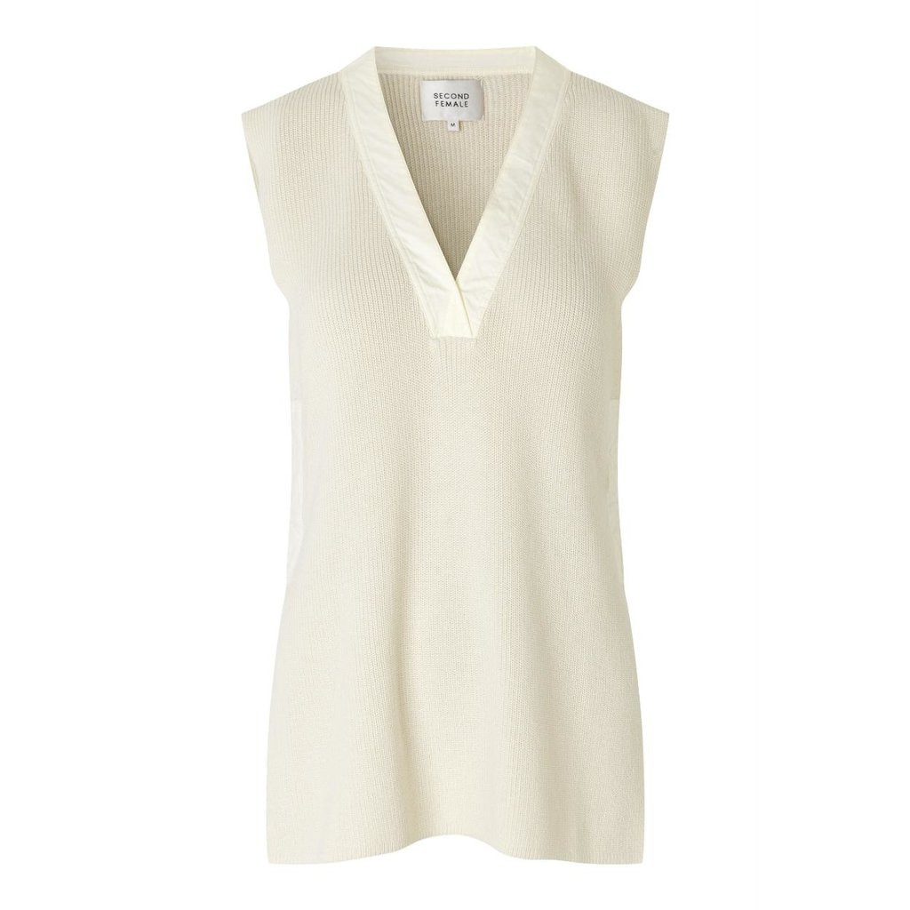 Second Female Off White Sapa Knit Vest 54583