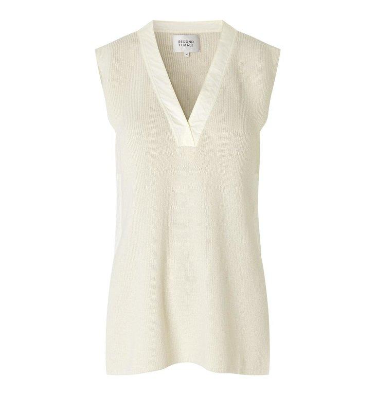Second Female Second Female Off White Sapa Knit Vest 54583