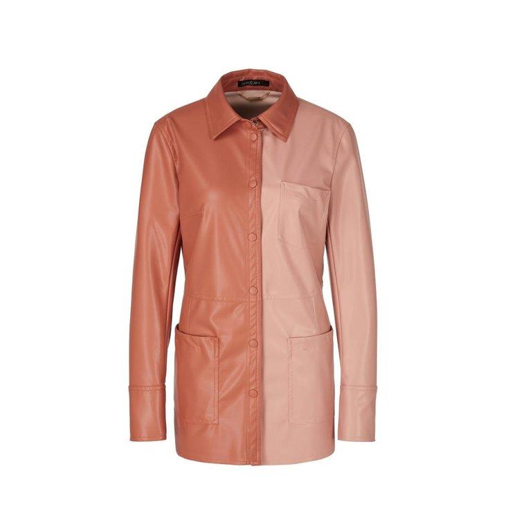 Marc Cain Marc Cain Soft Pink Blouse Leder RC5203-J78