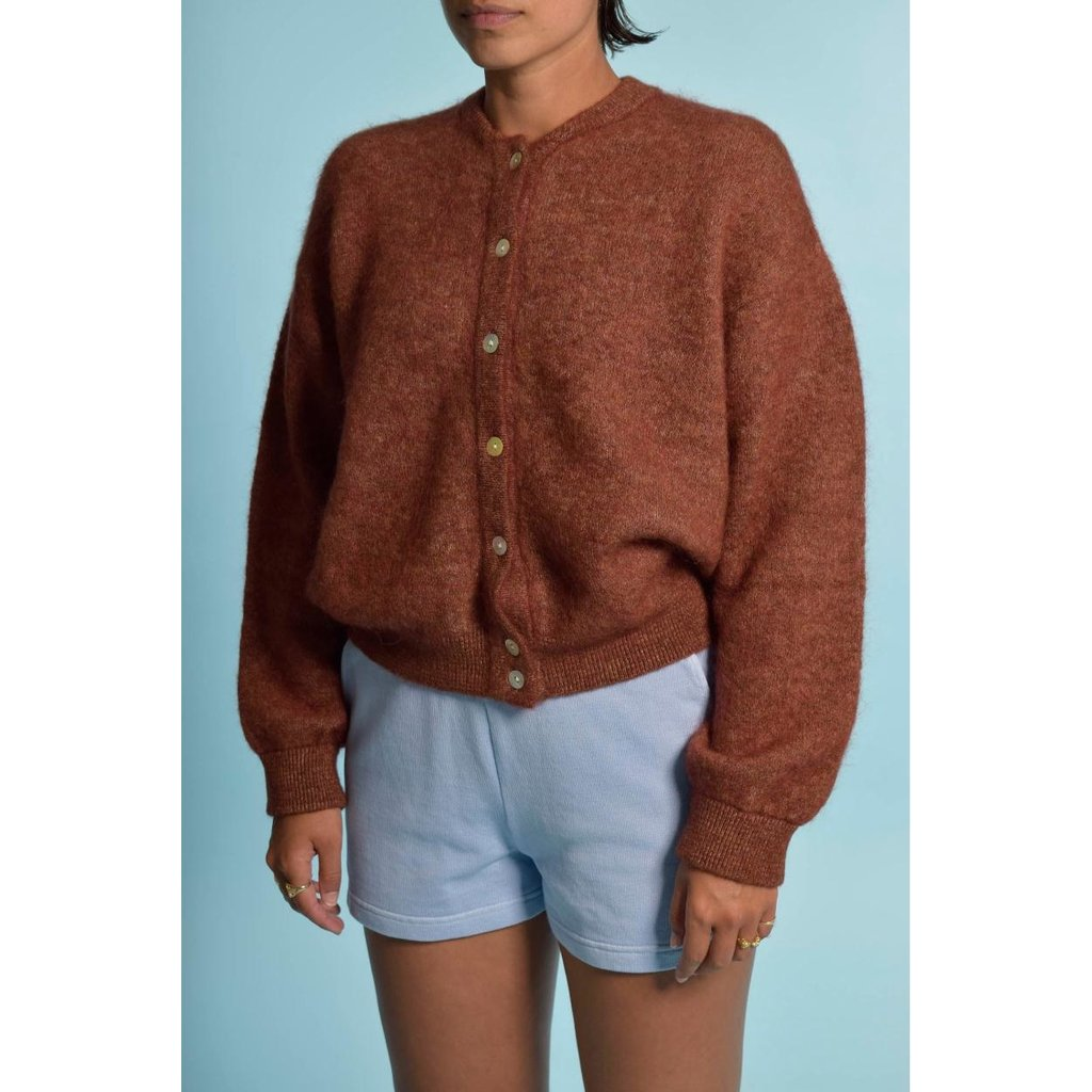American Vintage Brown Cardigan Zabi255