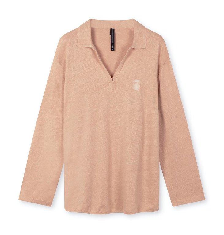 10Days 10Days Tuscany polo shirt linen 20-774-1203