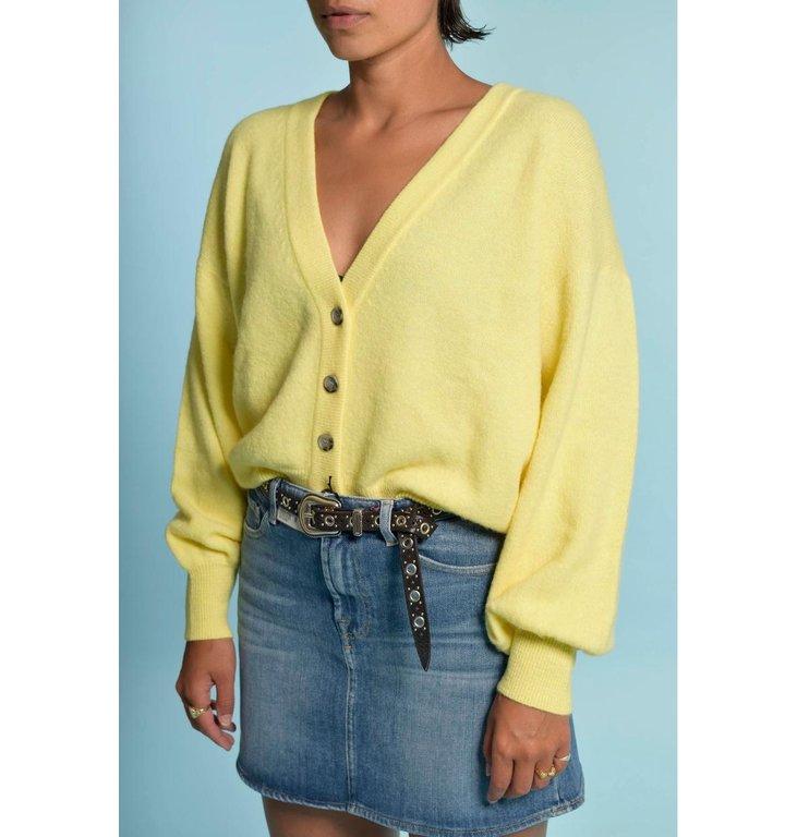 American Vintage American Vintage Yellow Cardigan Tid19a