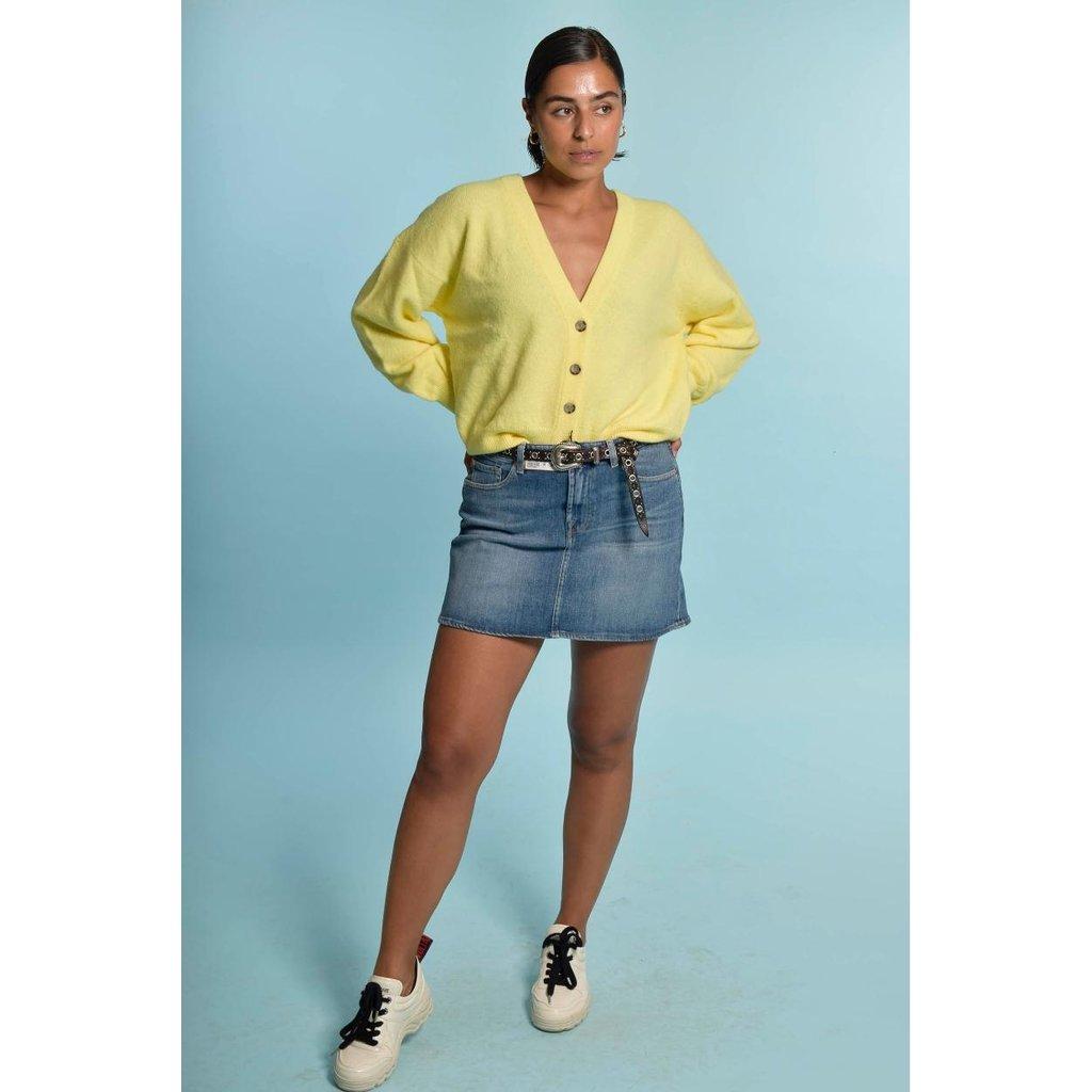 American Vintage Yellow Cardigan Tid19a