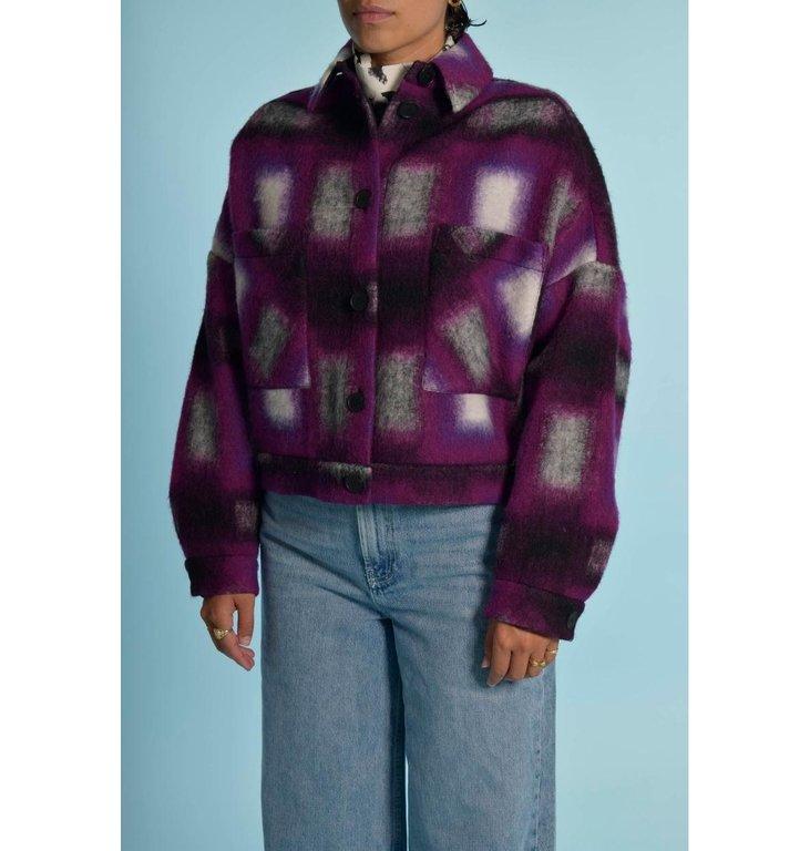 IRO IRO Purple Jacket Hanzel