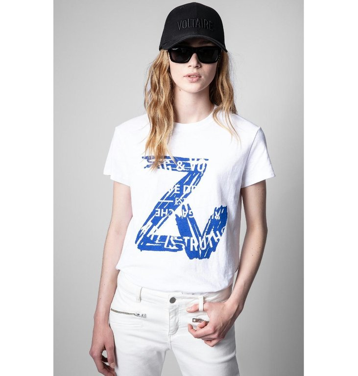 Zadig & Voltaire Zadig & Voltaire White T-shirt Zoe ZV Blason