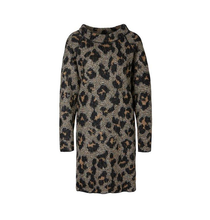 Marc Cain Marc Cain Brown/ Leopard Dress RA2114-M03