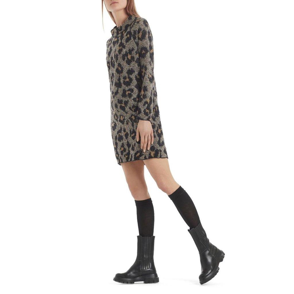 Marc Cain Brown/ Leopard Dress RA2114-M03