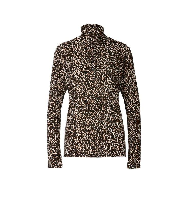 Marc Cain Marc Cain Brown/ Leopard T-shirt RA4808-J49