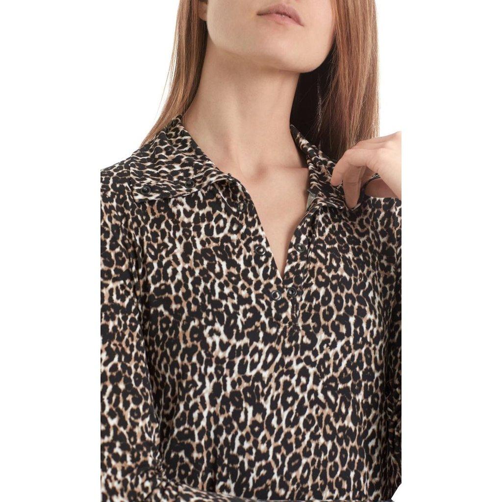 Marc Cain Brown/ Leopard T-shirt RA4808-J49