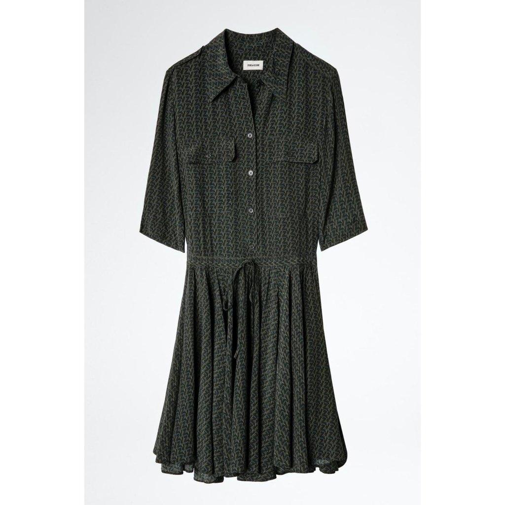 Zadig & Voltaire Kaki Dress Ranili ZV