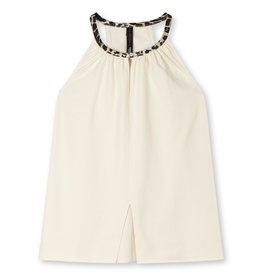 10Days 10Days Ecru sleeveless top fleece 20-456-1203