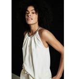 10Days Ecru sleeveless top fleece 20-456-1203