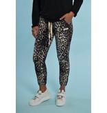 10Days Ecru cropped jogger leopard 20-003-1203