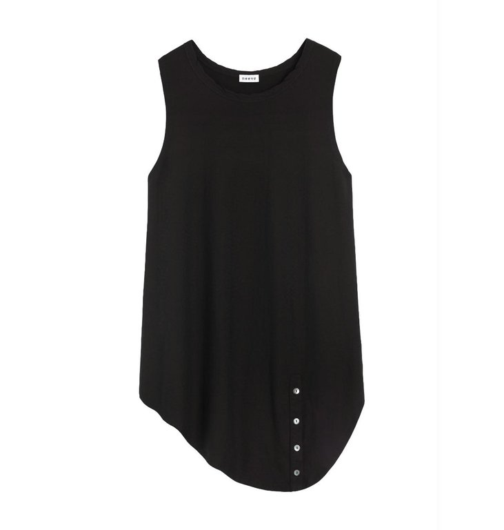 Neeve Neeve Black Organic Sleeveless Shirt The Button Up