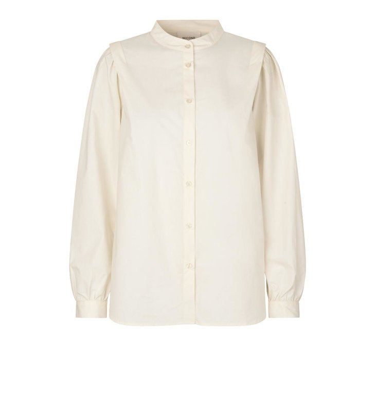 Second Female Second Female Off White Leid Shirt 54970