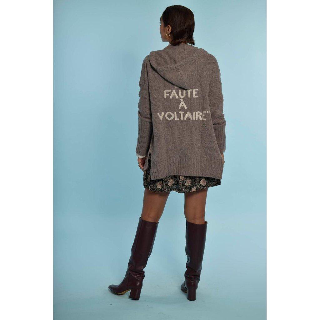Zadig & Voltaire Grey Cardigan Salma MW Faute