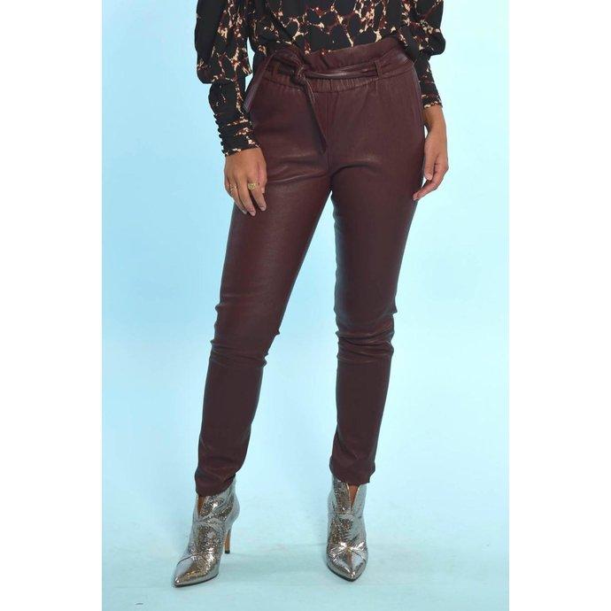Suite 22 Bordeaux Stretch Leather Pants Nomade
