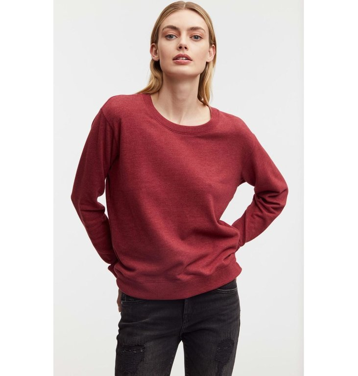 Denham Denham RHUBARB RED Sweater Showa Crew Knit CMJ