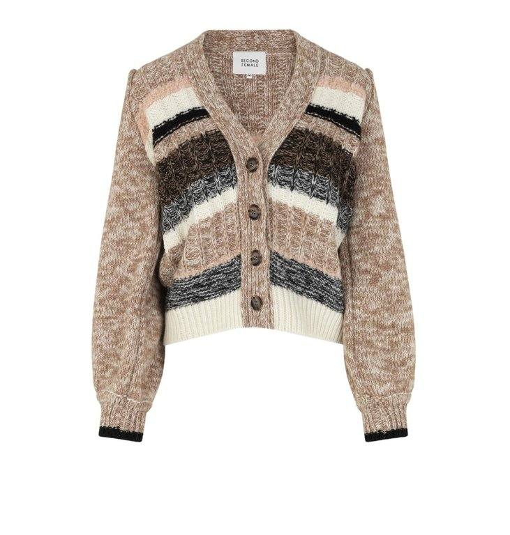 Second Female Second Female Brown Ahlam Knit Cardigan 55049