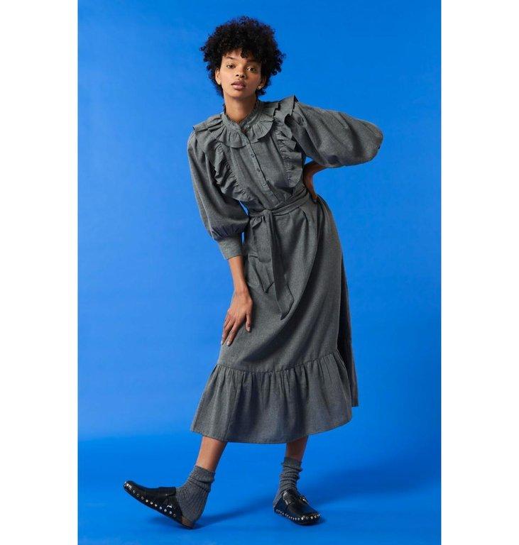 Antik Batik Antik Batik Grey Long Dress Lova