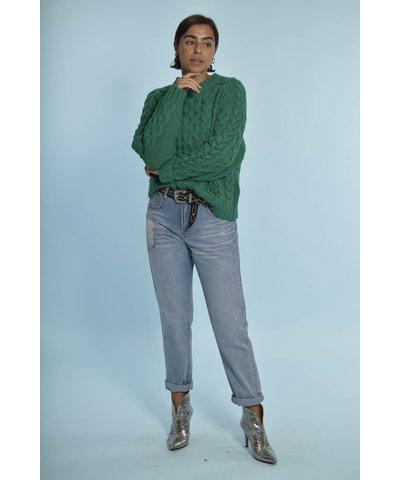 Heerlijke groene trui met Toral Shoes laarzen