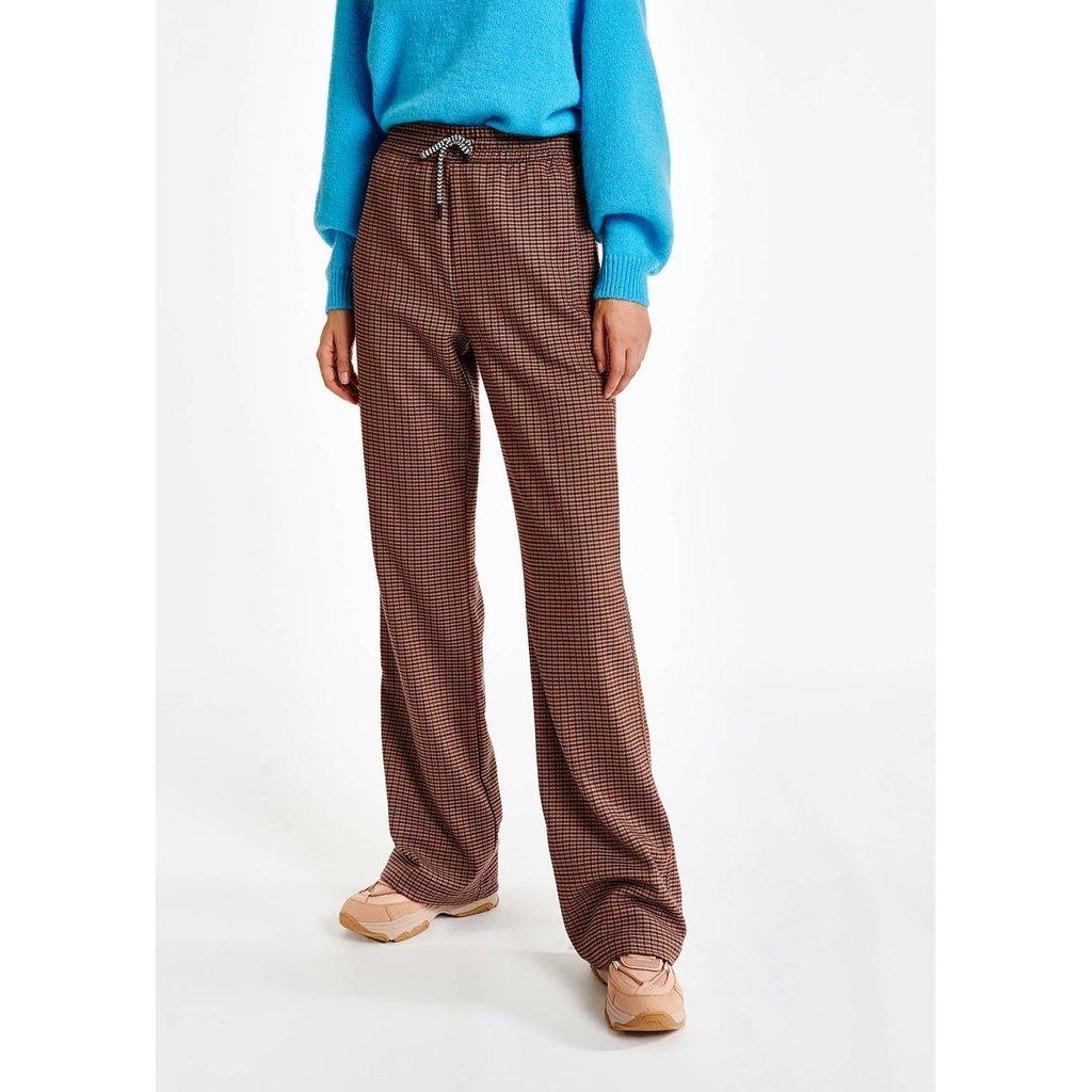 Essentiel Antwerp Brown Pants Pied-du-Poule Axe