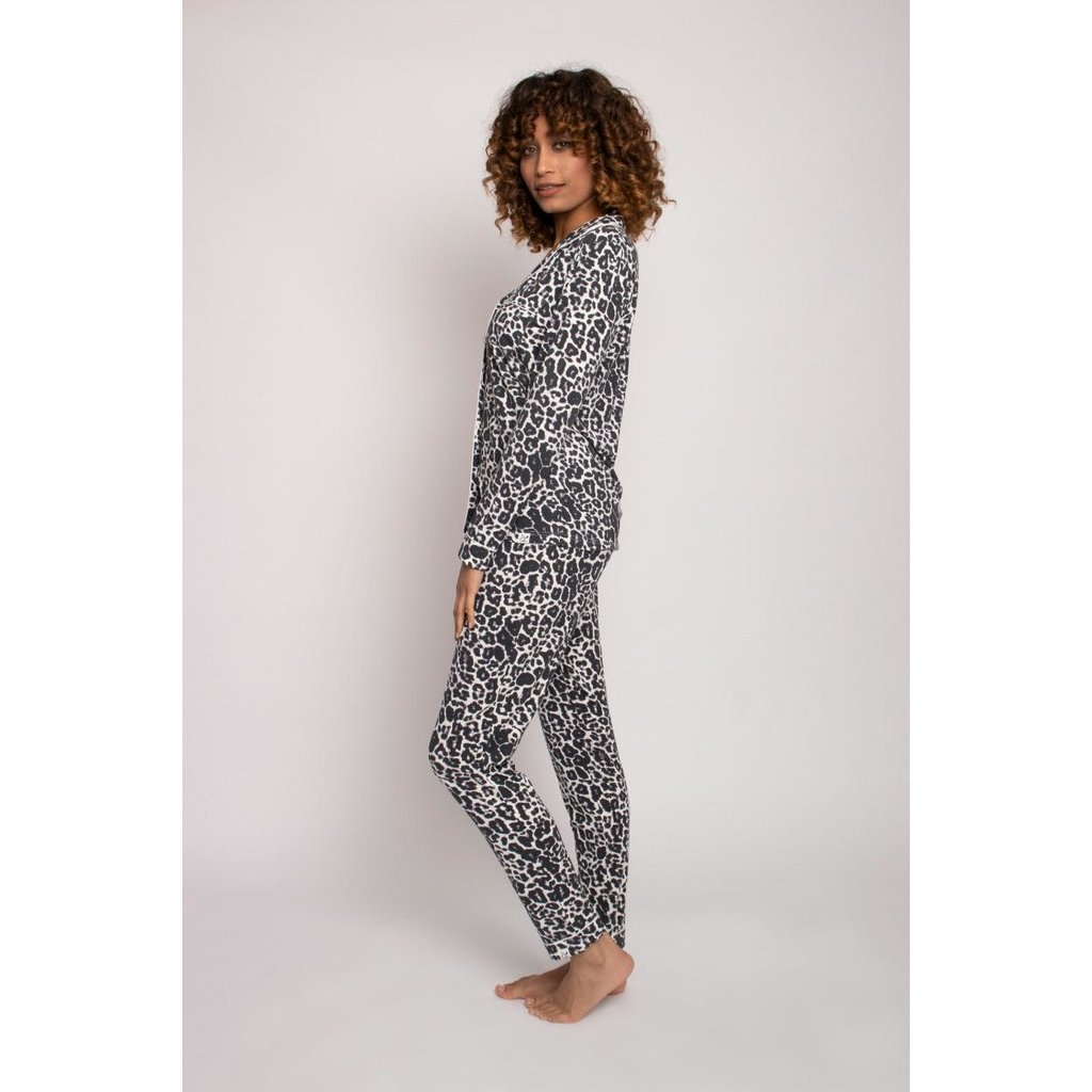 Pretty You London Black/White Pyjama Bamboo Pyjama Set