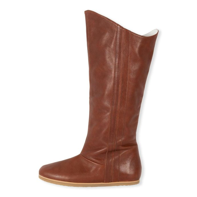 10Days Cognac leather high jogg boots 20-932-1204