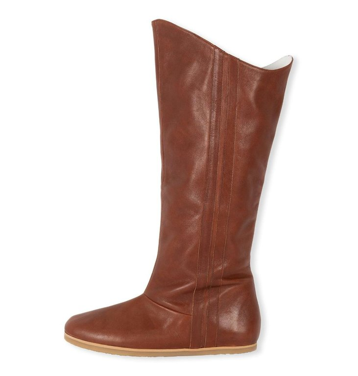 10Days 10Days Cognac leather high jogg boots 20-932-1204