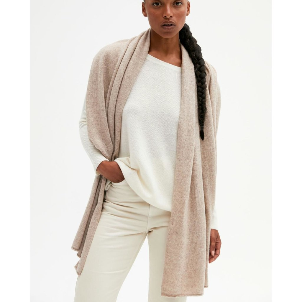 Absolut Cashmere Taupe Anais sjaal AC122000C