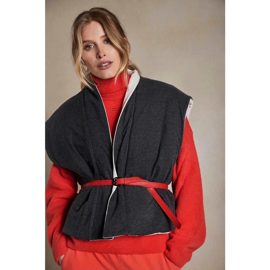 10Days Fluor Red vegan leather belt 20-940-1204