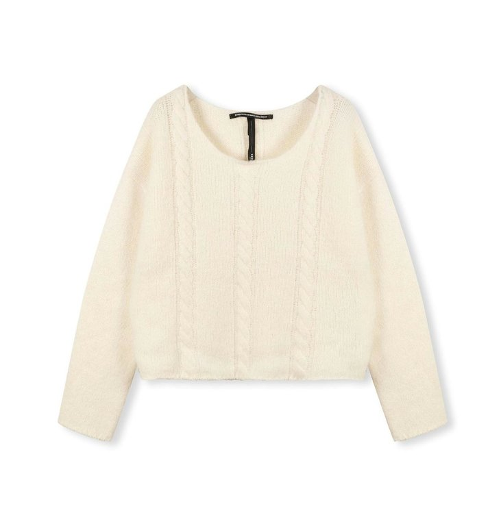 10Days 10Days New white cable knit sweater 20-607-1204