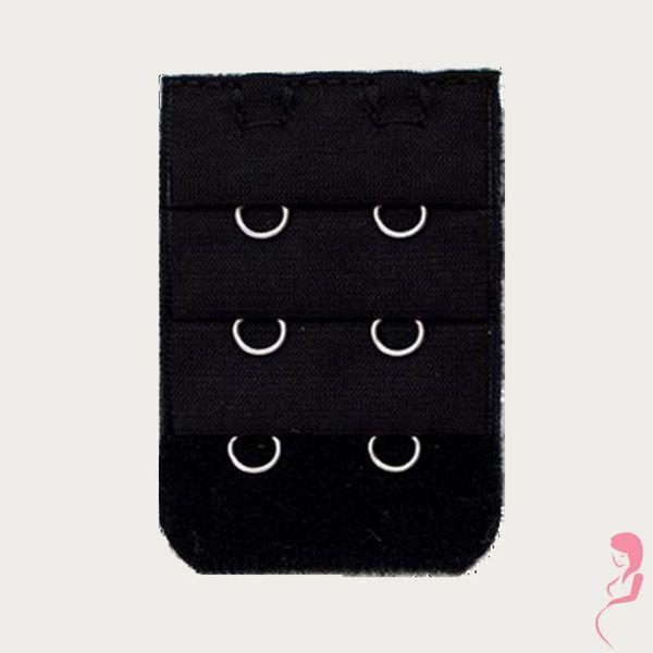 Op en Top Zwanger bh Verlengstuk / Verlenger 2 Haaks Zwart (per stuk)