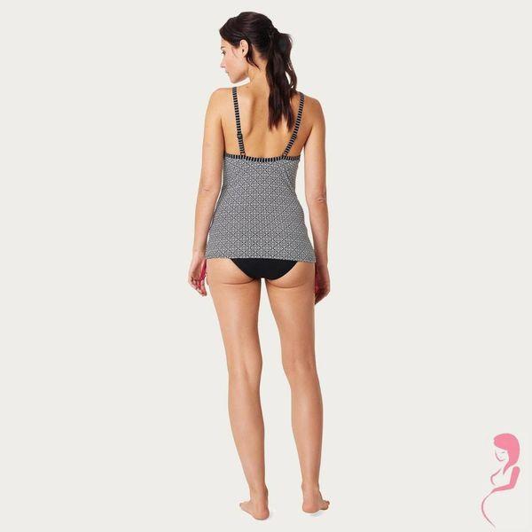 Noppies Zwangerschapstankin Positietankini Top Noor Zwart/Wit