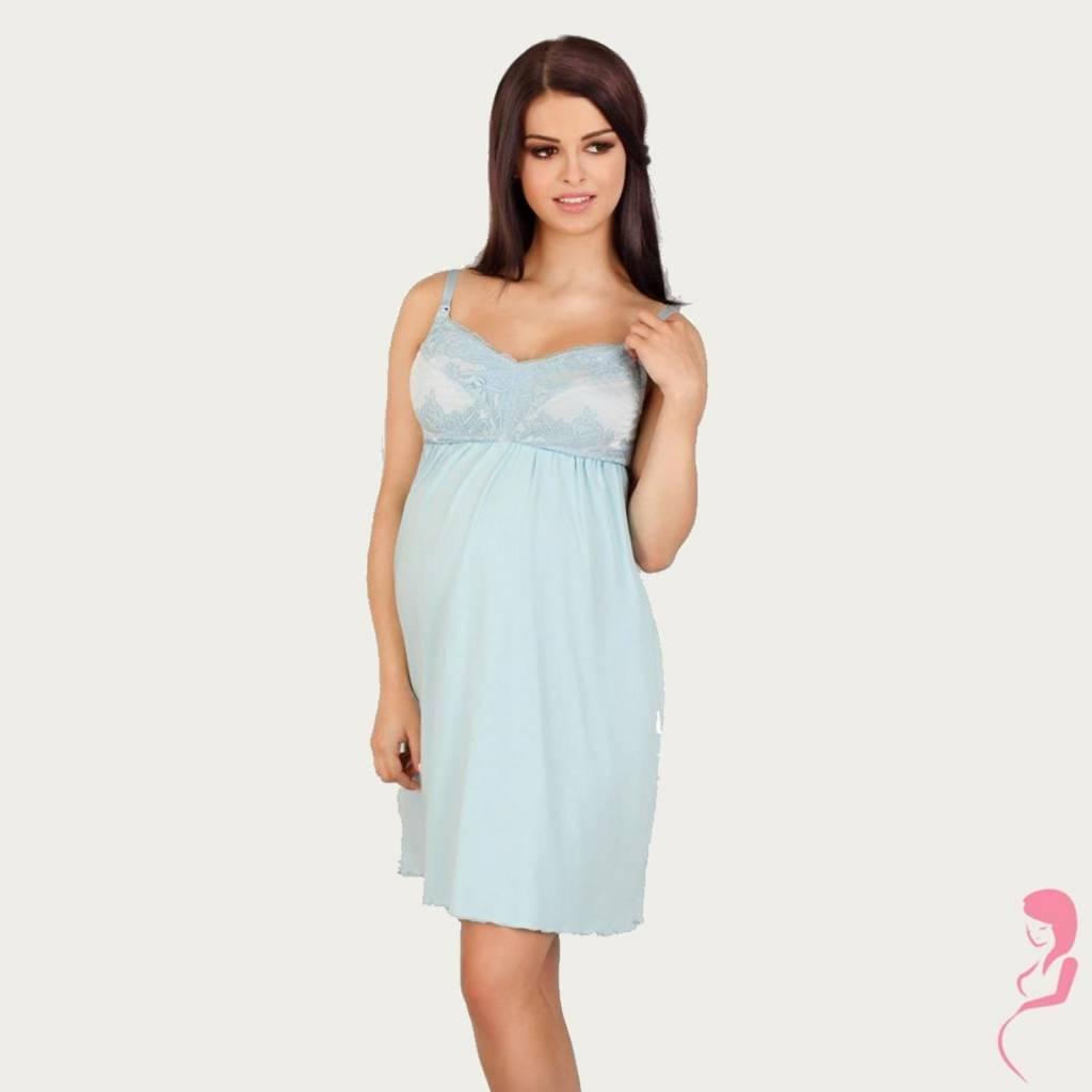 Lupoline Zwangerschapsjurk - Voedingsjurk Soft Blue