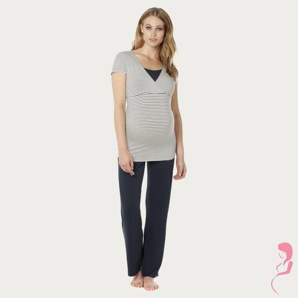 Noppies Zwangerschapspyjama Top / Voedingsshirt Dolores