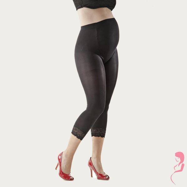 Lida Zwangerschapslegging Positielegging 3/4 Lace 60 Den Zwart