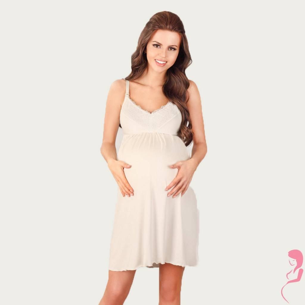 Lupoline Zwangerschapsjurk - Voedingsjurk White