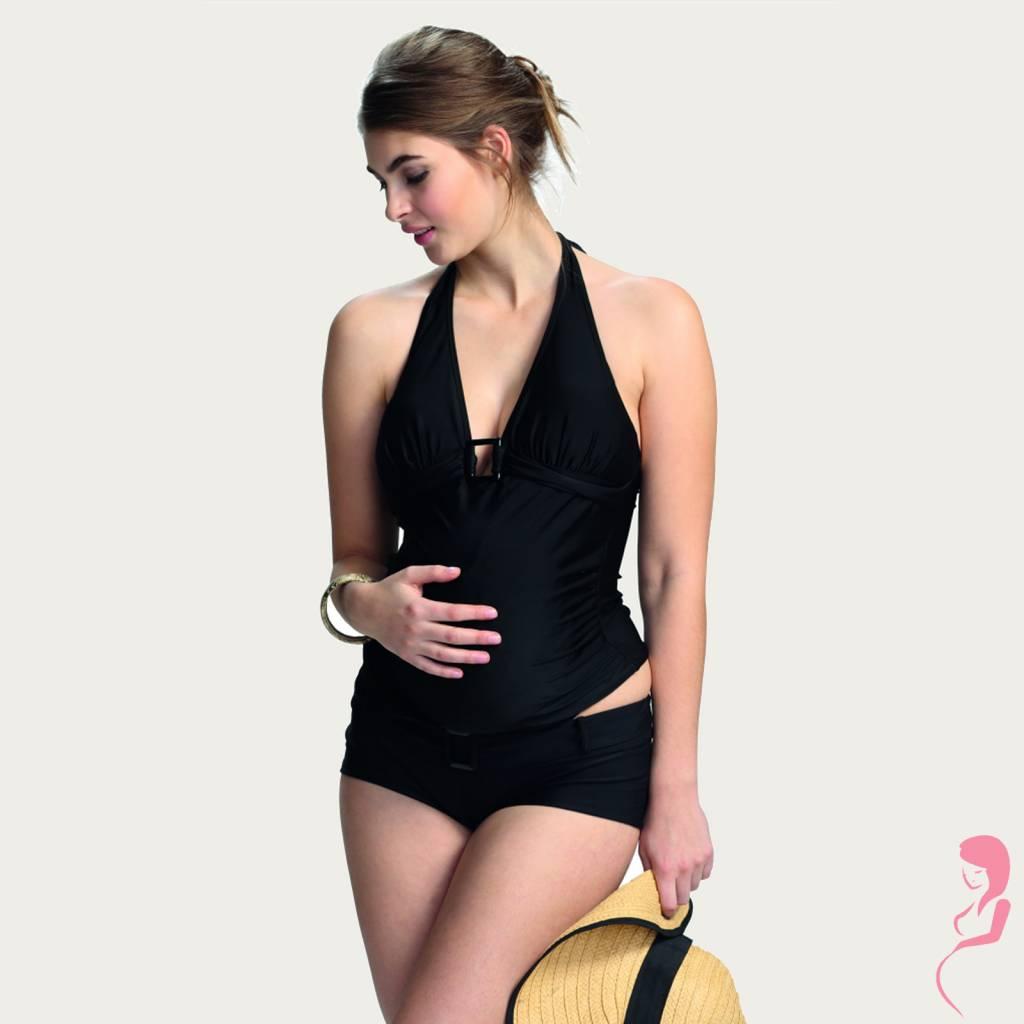 Petit Amour ZwangerschapsTankini Sexy Black Super Zwart
