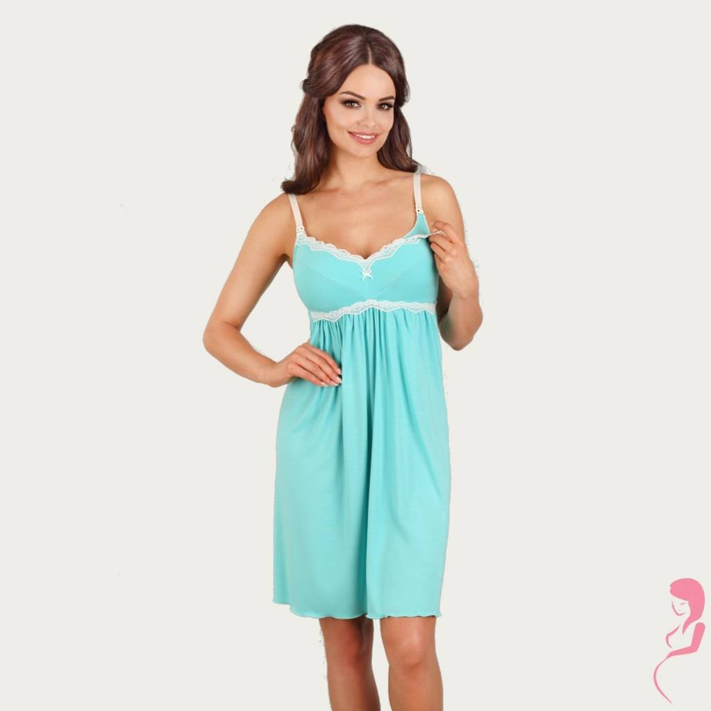 Lupoline Zwangerschapsjurk - Voedingsjurk Turquoise