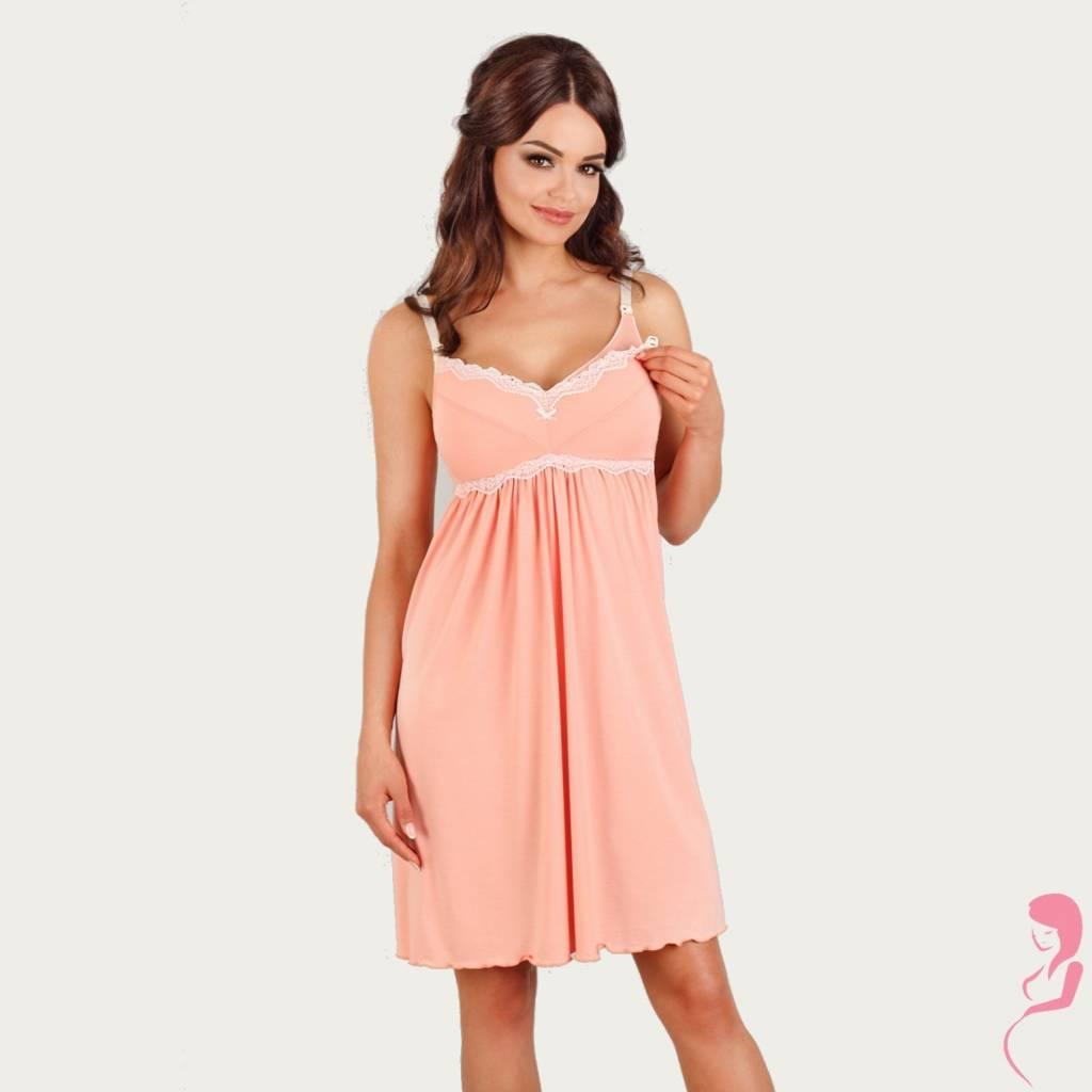 Lupoline Zwangerschapsjurk - Voedingsjurk Peach