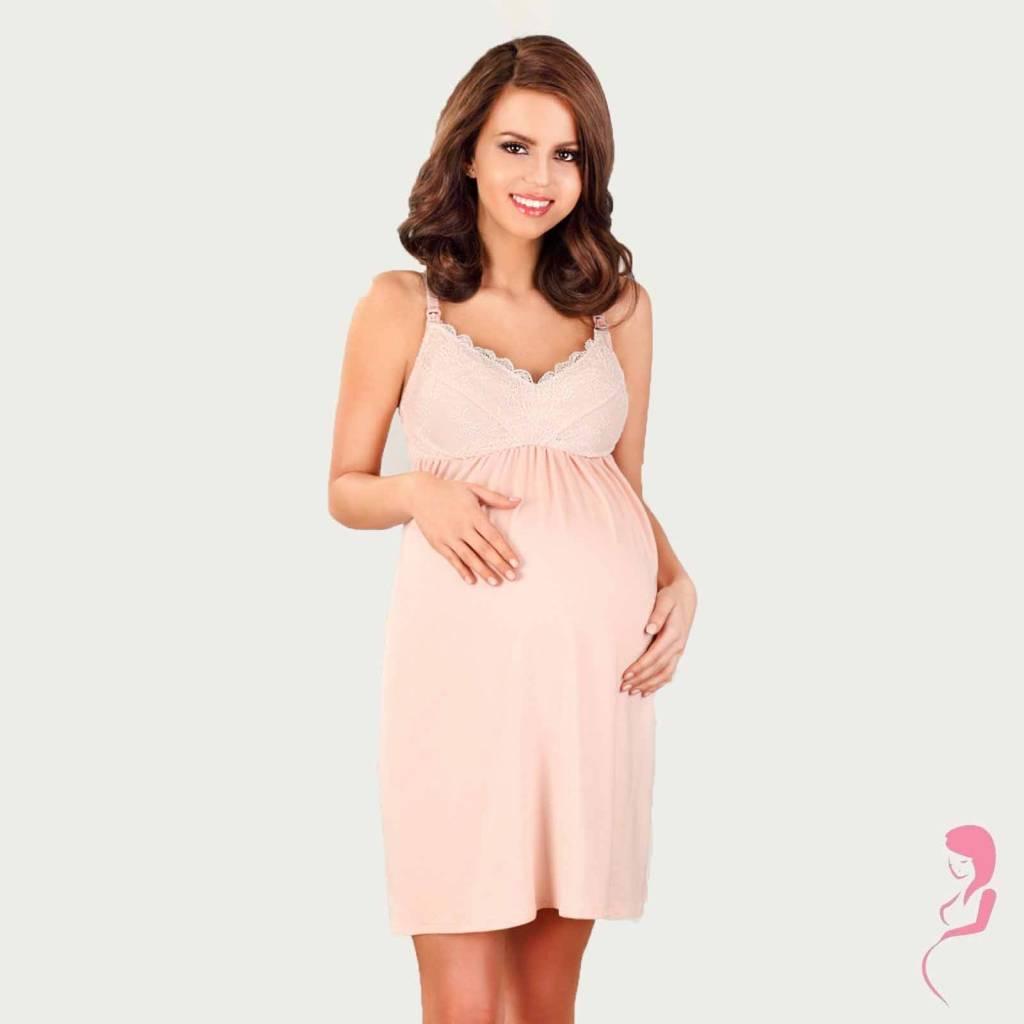 Lupoline Zwangerschapsjurk - Voedingsjurk Pastel Pink
