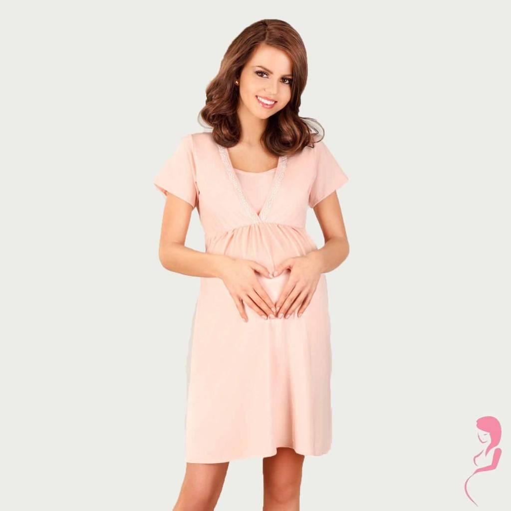 Lupoline Zwangerschapsjurk - Voedingsjurk Romantic Pastel