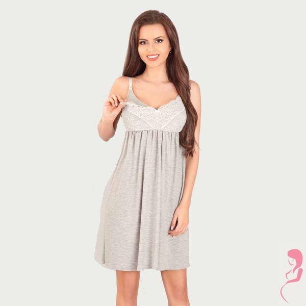 Lupoline Zwangerschapsjurk / Voedingsjurk Romantic Grey
