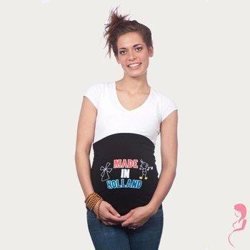 Op en Top Zwanger Zwangerschaps Buikband Made in Holland Zwart