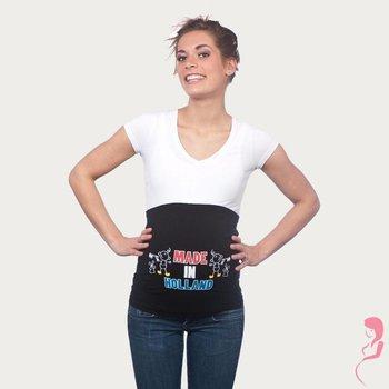 Op en Top Zwanger Zwangerschaps Buikband Made in Holland Twins Zwart