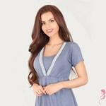 Lupoline Zwangerschapsshirt / Voedingsshirt Dark Blue