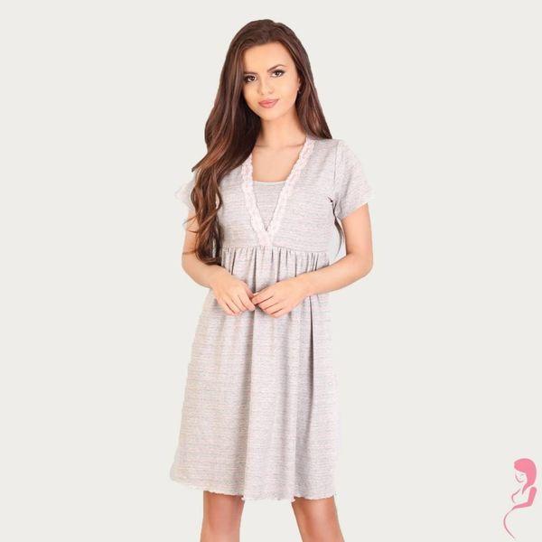 Lupoline Zwangerschapsshirt / Voedingsshirt Light Grey
