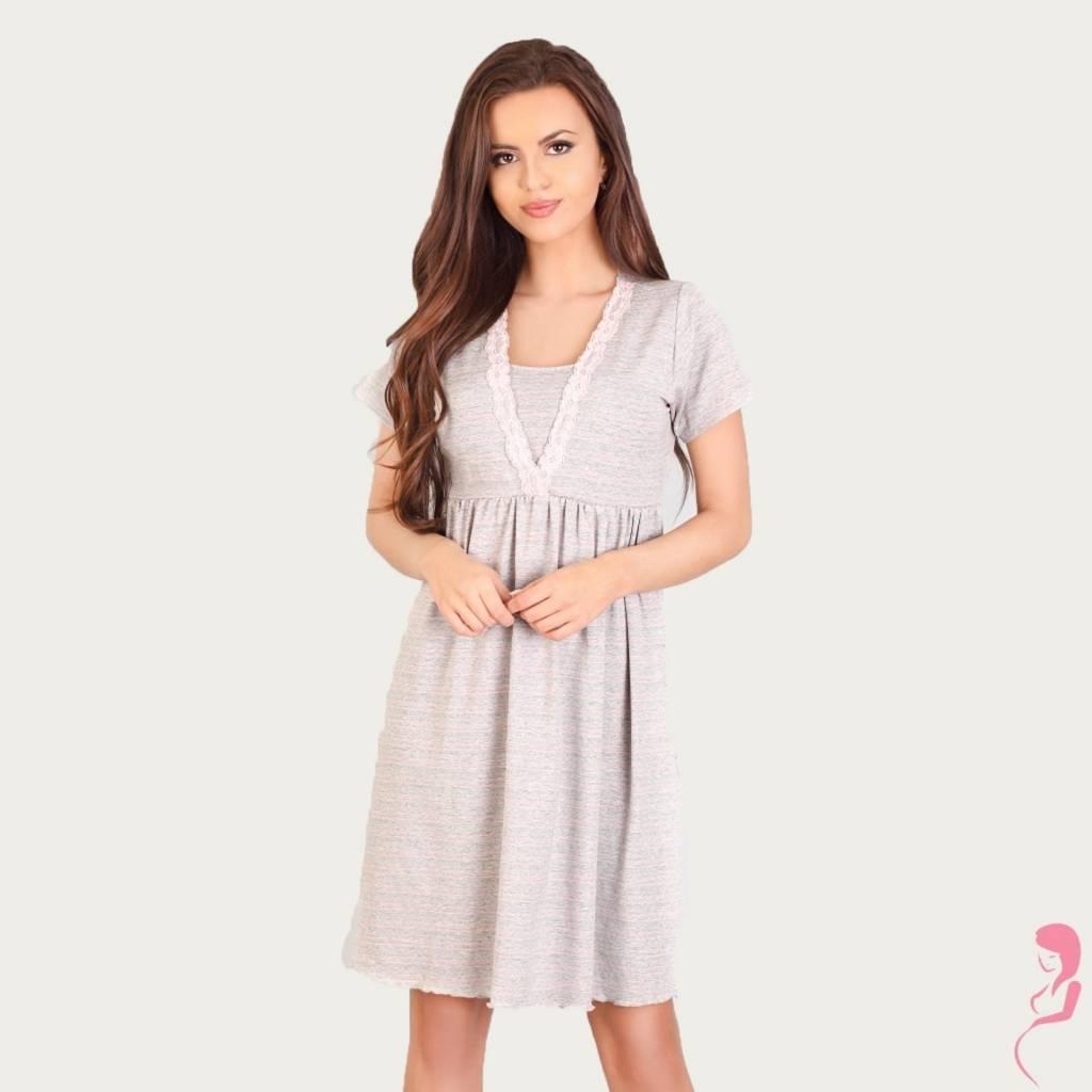 Lupoline Voedingsshirt - Zwangerschapsshirt Light Grey