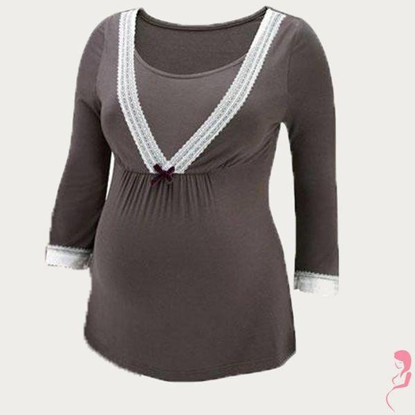 Amoralia Zwangerschapsshirt / Voedings- Pyjama top